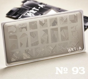 Пластина ART-A для стемпинга 93