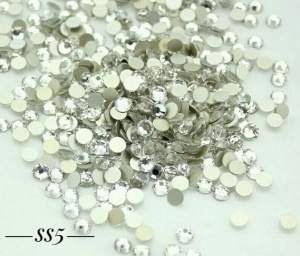 Стразы серебро SS5, 1440шт