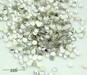Стразы серебро SS6, 1440шт