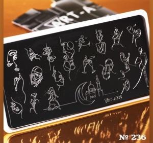 Пластина ART-A для стемпинга 236