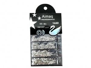 Стразы Aimaq professional серебро, 1440 шт.