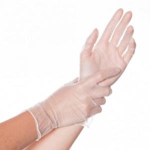Перчатки виниловые прозрачные
