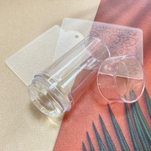 Штамп для стемпинга силиконовый со скрапером, прозрачный