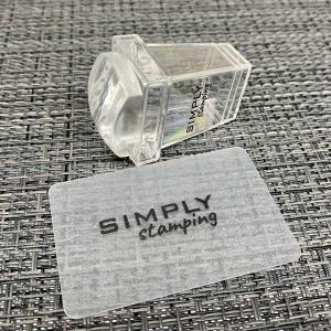 Штамп для стемпинга силиконовый со скрапером SIMPLY