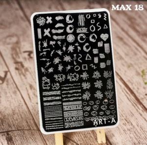 Пластина ART-A для стемпинга MAX 18