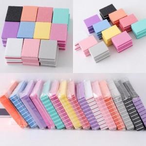 Баф мини квадратный цветной (в ассортименте) упаковкой