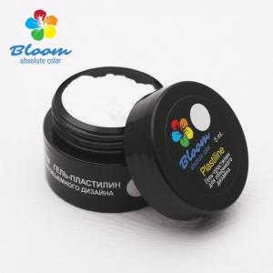 Гель-пластилин Bloom для дизайн (белый)